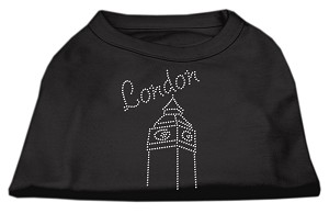 London Rhinestone Shirts Black S (10)